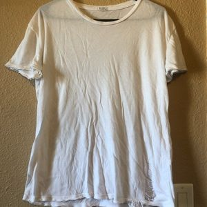 White distressed Brandy Melville tee